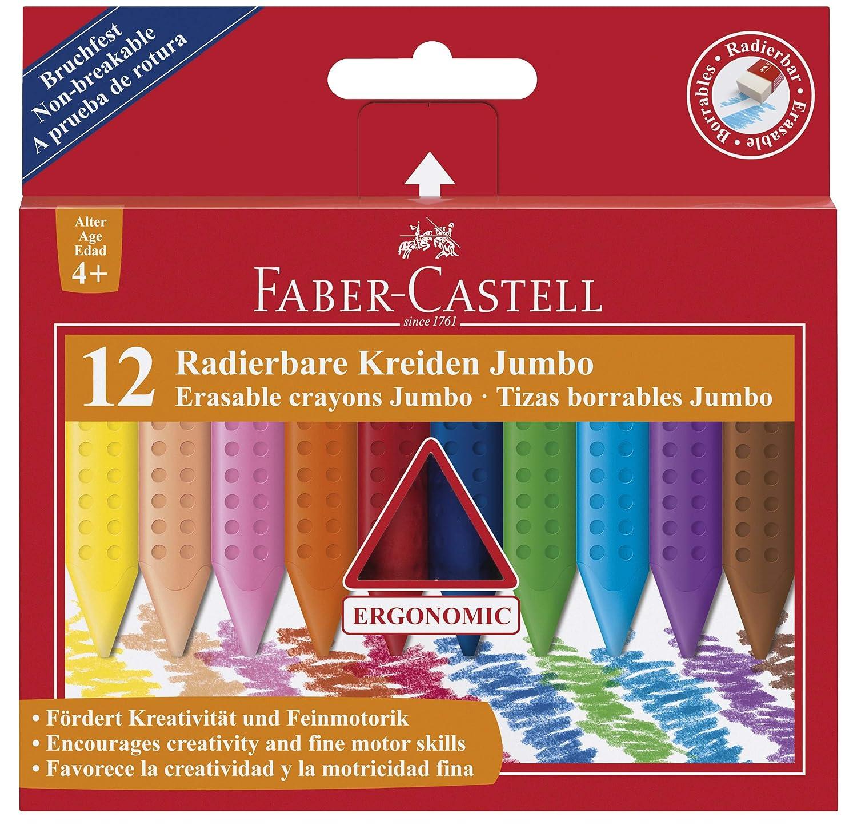 Faber-Castell 122540 Craies effa/çables Jumbo GRIP x 12