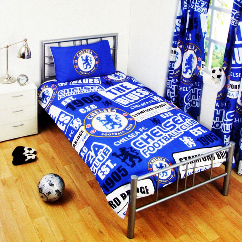 Chelsea FC Childrens/Kids Official Patch Football Crest Duvet Set (Double) (Blue) UTSG3549_2