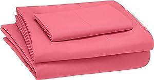 AmazonBasics Kid's Sheet Set - Soft, Easy-Wash Microfiber - Twin, Hot Pink