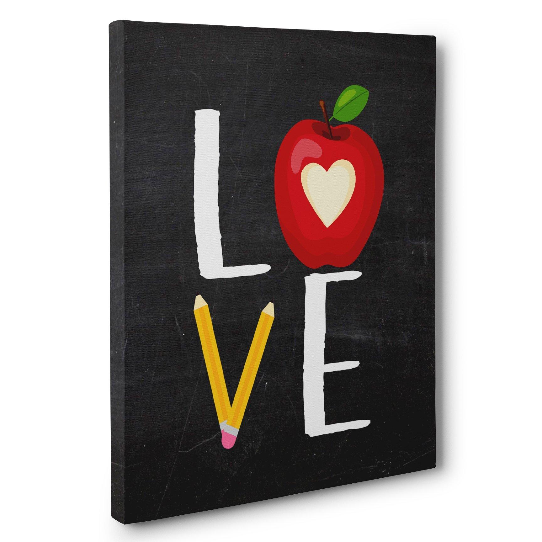 School Love Chalkboard Canvas Wall Art