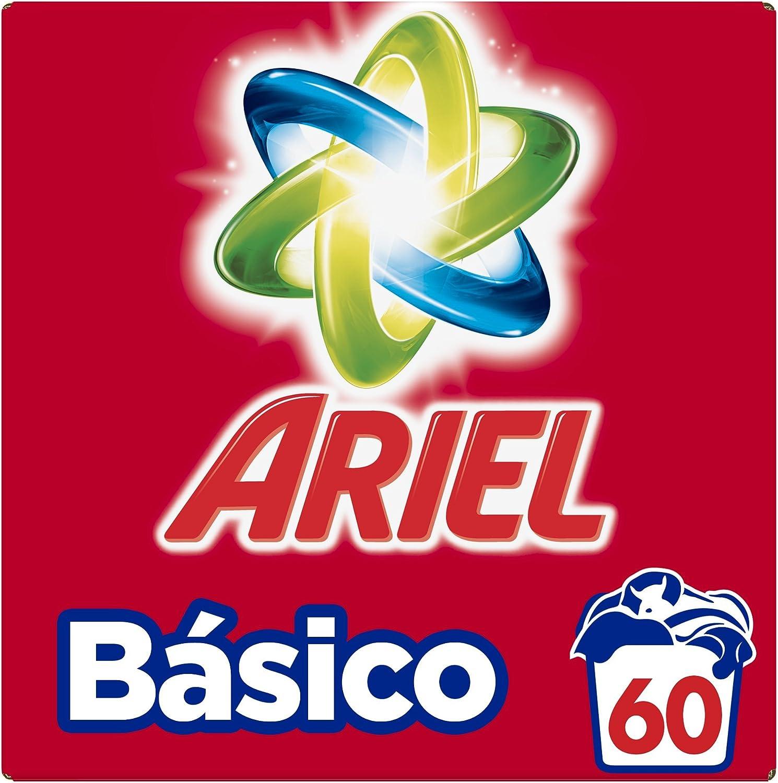 Ariel Básico Detergente En Polvo, Calidad A Un Precio Asequible - 60Lavados