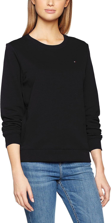 TOMMY HILFIGER Flag Sweatshirt Sudadera, Azul (Midnight 403), 38 (Talla del Fabricante: Small) para Mujer