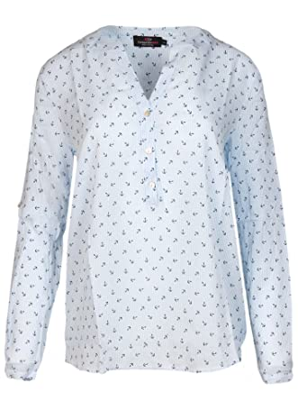 bluse mit anker muster