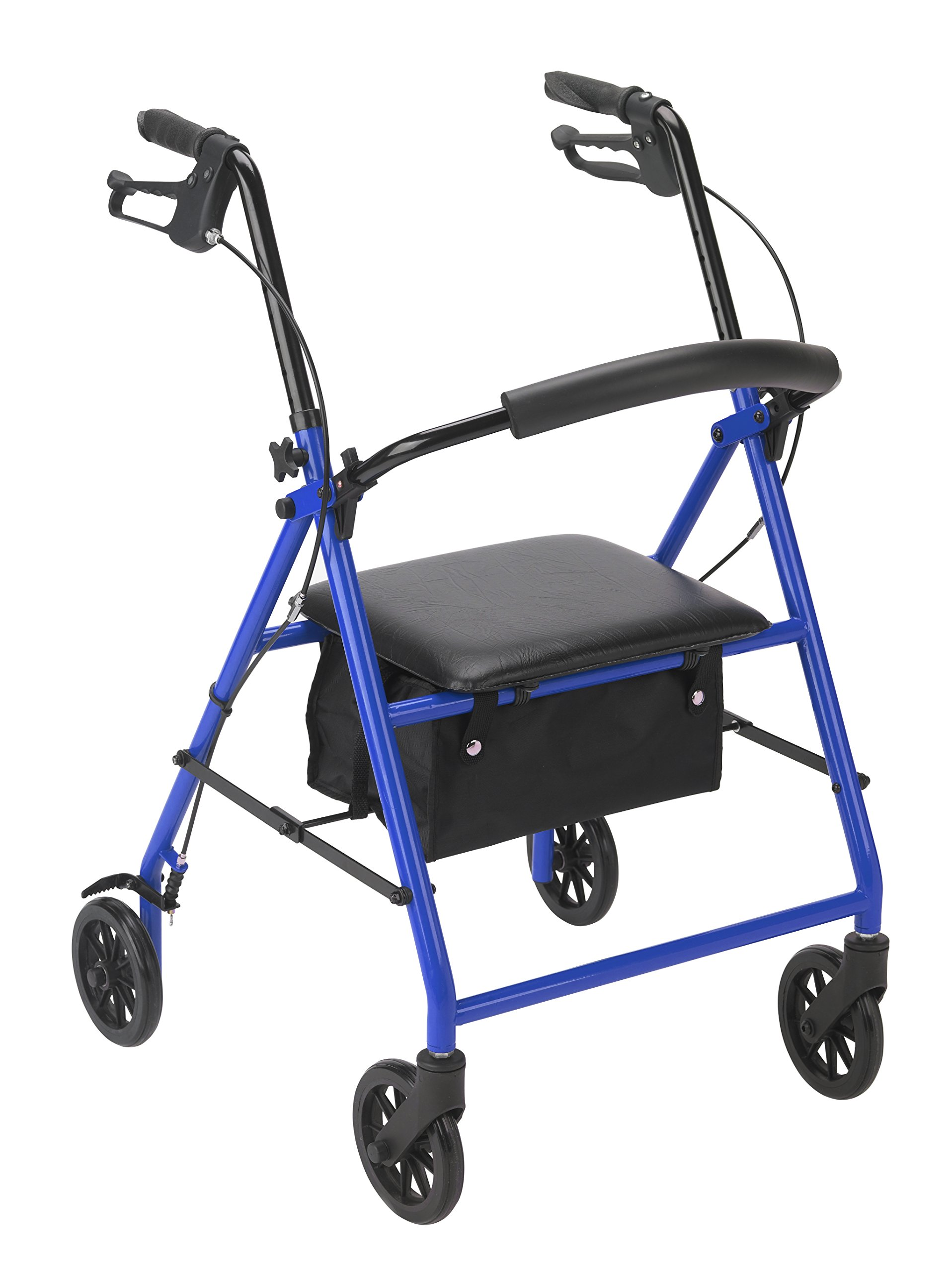 Drive Medical Rollator with Wheels, Blue by Drive Medical