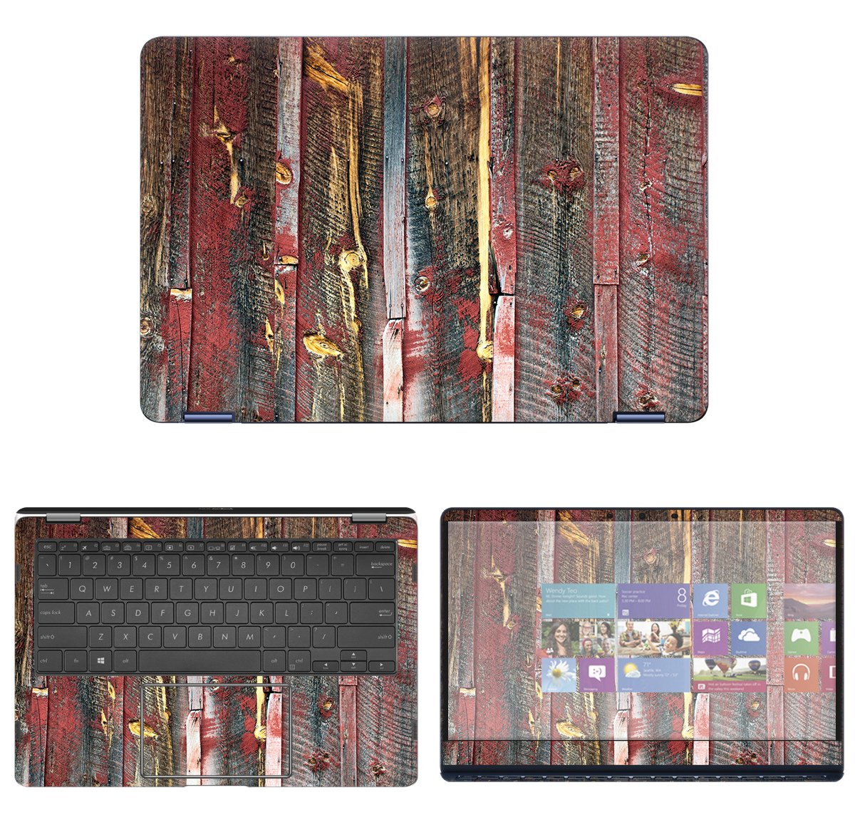 decalrus Protective Decal Reclaimed Wood Skin Sticker for Asus ZenBook Flip S UX370UA (13.3'' Screen) case cover wrap ASzenbkFlipS_ux370-213