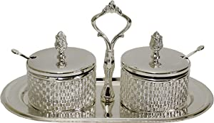 Majestic Giftware Decorative Set Silver Plated/Glas-3
