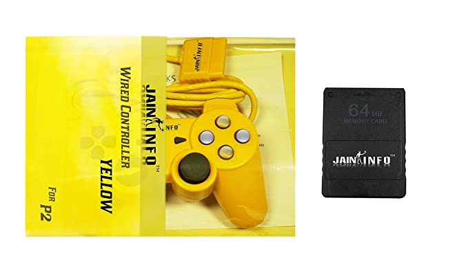 Buy Jain Info Branded PS2 Wired Controller with 64-MB Memory