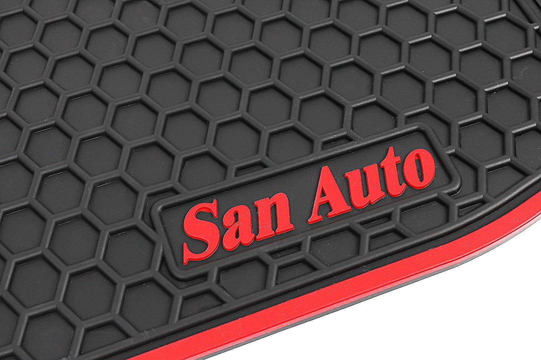 HD-Mart Car Floor Mats Custom Fit for Tesla Model S 2016 2017 2018 2019 Full Black Rubber Car Floor Liners Set All Weather Protection Heavy Duty Odorless