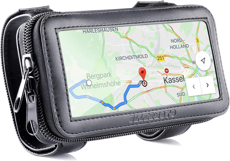 Ullermoto Superpotente Motocicleta portamóvil - Smartphone Bolsa para manillar- Porta teléfono móvil Bolsa de manillar de motocicleta - Bolsa para el teléfono móvil de la talla M