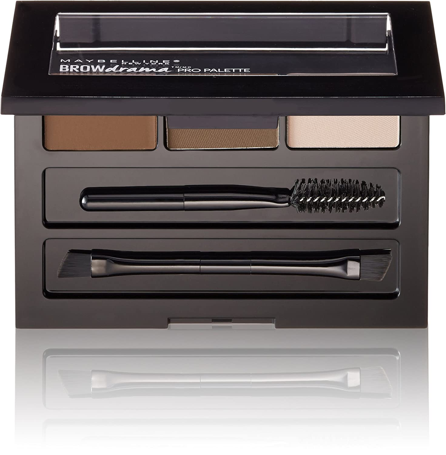 Maybelline New York Brow Drama Pro Eye Makeup Palette, Soft Brown, 0.1-Ounce MABROWPL2