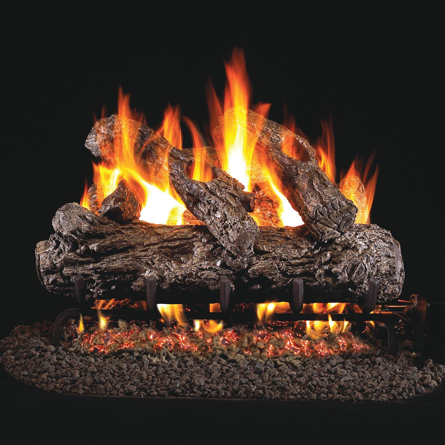 Peterson Real Fyre 30-inch Rustic Oak Gas Log Set With Vented Natural Gas G45 Burner - Match Light by Peterson Real Fyre