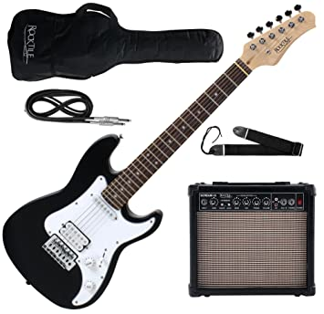 Rocktile Sphere Junior guitarra electronica 3/4 negro SET incl. amplificador, cable y correa: Amazon.es: Instrumentos musicales