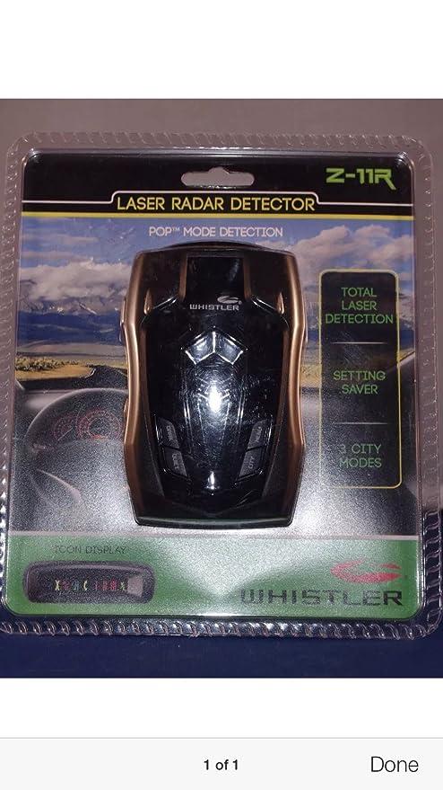 Amazon.com: Whistler Z11-R Radar Laser detector police scanner speed trap: Cell Phones & Accessories