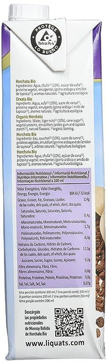 MONSOY Bebida de Horchata Ecologica 1L [caja de 4 x 1L]: Amazon.es: Alimentación y bebidas
