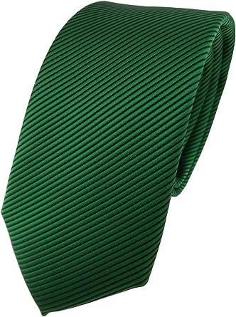 TigerTie - Corbata - verde verde oscuro negro rayas: Amazon.es ...