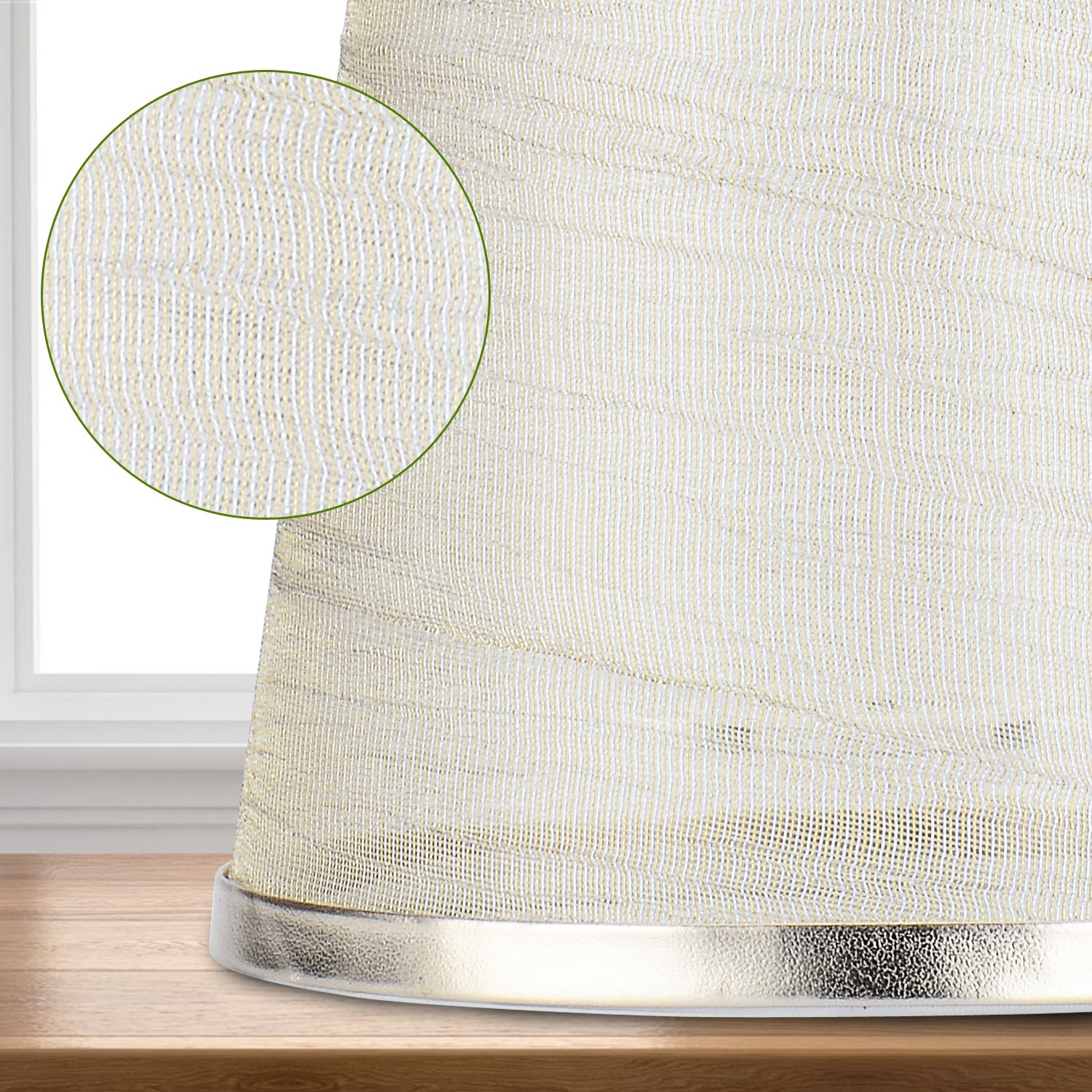 Cleeacc Creative Transparent Lamp Shades for Table Lamps Small Clip on (4x6x5.5in) Chandelier Handmade Modern E14 Screw Lampshade Classic Simple Style Crystal Candle Glass Lamp Shade Cloth Design 1 by Cleeacc (Image #4)