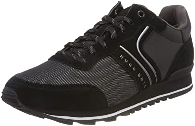 Herren Parkour_Runn_Flash Sneaker, Schwarz (Black 001), 44 EU HUGO BOSS