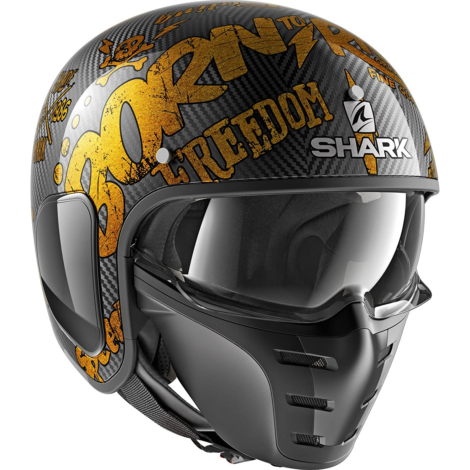 Shark S-Drak Carbon Freestyle Cup Open Face Motorcycle Helmet