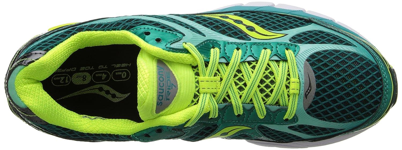 Saucony Women's Ride 7 Running Shoe B00GY0HLU2 8 B(M) US|Green/Citron