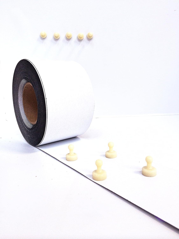 Ferroband Eisenfolie selbstklebend Magnetstreifen Ferrofolie Wei/ß Matt selbstklebend, Breite 20mm !Auswahlangebot