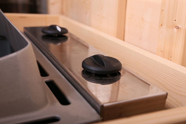 Karibu Saunaofen 9 kW integrierte Steuerung mit Steinen: Amazon.de ...