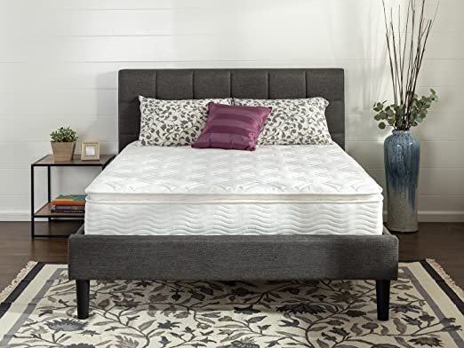 zinus sleep master ultima comfort 10 inch pillow top spring mattress twin