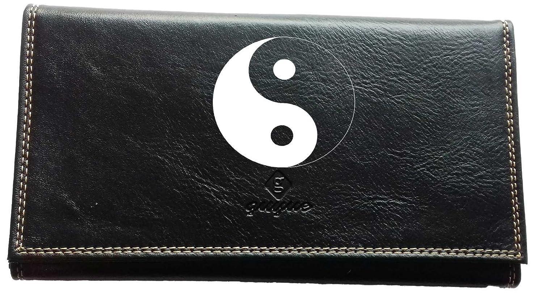 Pochette Etui Protection Porte Carte Grise - papiers voiture - permis de conduire Ying Yang cg-yyang