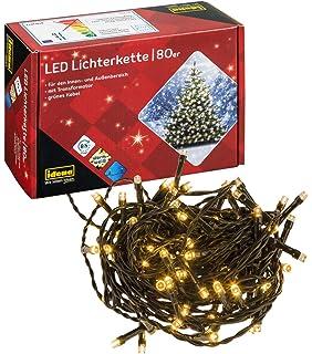 EF Lichterkette 48 LED,8 Funktionen,WARM WEISS,Weihnachts Kette Timer Batterie