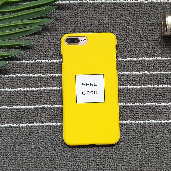 timeless design 8798e 56861 Amazon.com: Letters Feel Good Phone Cases for iPhone 8 Cases Slim ...