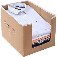 COTANZA CRAFT Large Capacity Cloth Organizer, Space Saver Closet Organizer, Clothes Storage Bag, Non-Woven Rectangle Cloth Organizer, Front Opening Wardrobe Organizer
