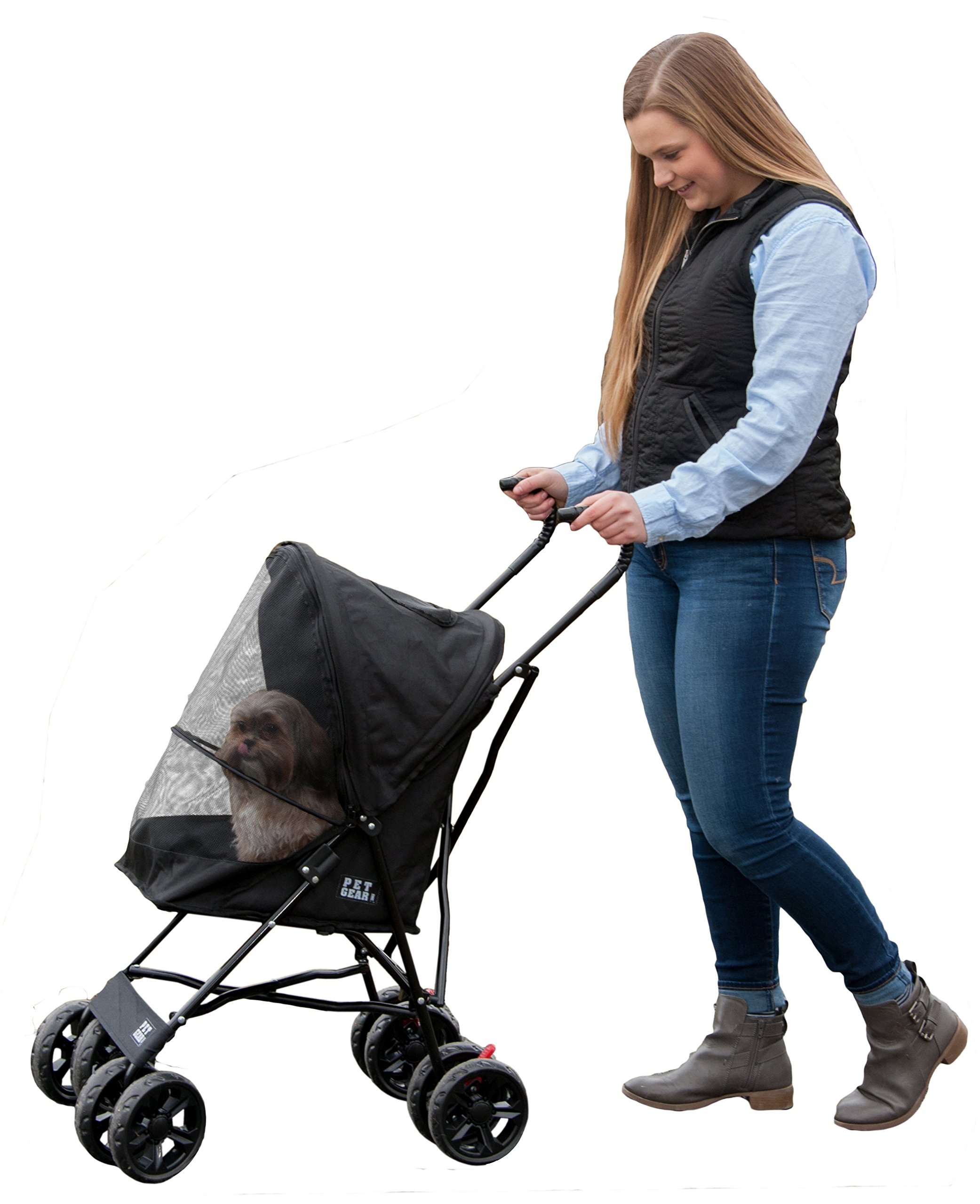 Pet Gear Travel Lite Pet Stroller for Cats and Dogs up to 15-pounds, Black by Pet Gear