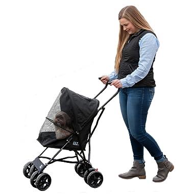 Pet Gear Ultra Lite Travel Stroller, Compact, Large Wheels, Lightweight, 38  Tall