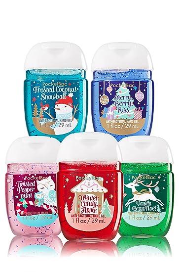 Amazon.com : Bath & Body Works 5 Pack Pocketbac Holiday Traditions ...