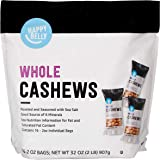 Amazon Brand - Happy Belly Roasted Salted Cashews, 2 Ounce (Pack of 16)