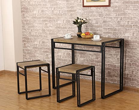 Amazon.com - FIVEGIVEN 3 Piece Dining Bistro Table Set Indoor ...