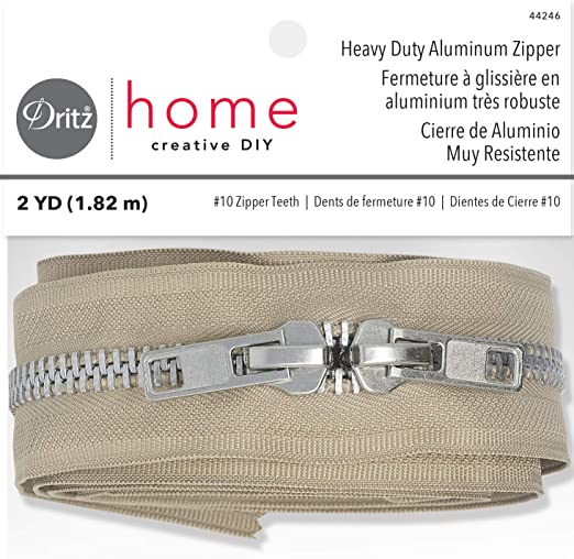 30 inch Beige /& Aluminum #10 Heavy Duty Separating YKK Zipper