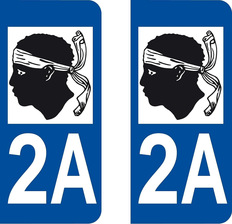 CORSICA 2A - Adhesivo decorativo, diseño de placa de matrícula con bandera de Córcega: Amazon.es: Coche y moto