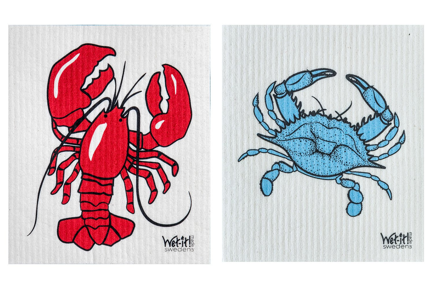 Wet-It Swedish Dishcloth Set of 2 (Lobster and Crab) by Wet-It (Image #1)