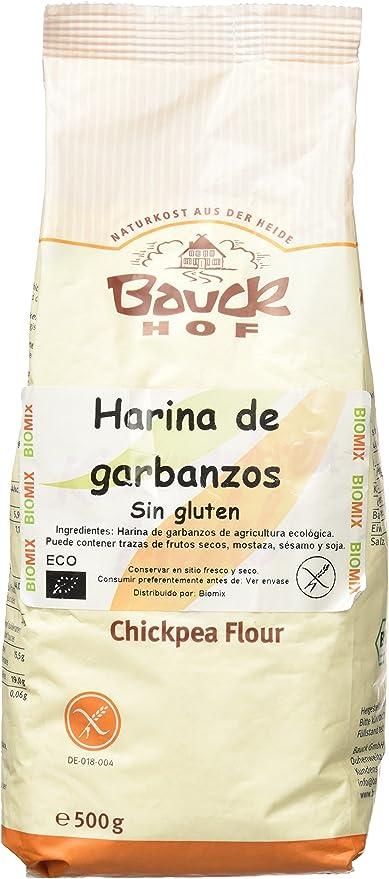 Bauck Hoff - Harina de Garbanzos, Sin Gluten, pack de 2 x 500 ...