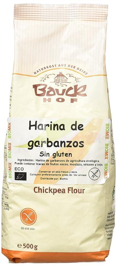 Bauck Hoff - Harina de Garbanzos, Sin Gluten, pack de 2 x ...