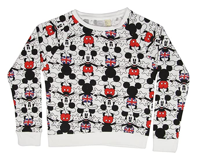 Amazon.com  Disney Mickey Mouse UK Design Girls Crewneck Sweater ... 60d5b268c