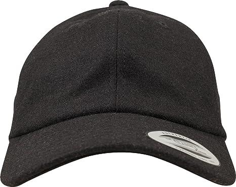 36ed72dd48a70 Flexfit Low Profile Melton Wool Strapback DAD Cap - Black - One Size ...