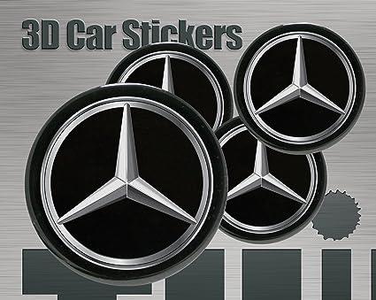 Conjunto de 4 x 65mm pegatinas de rueda para tapas tapacubos MercedesBenz autoadhesivas