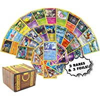 Pokemon Cards 50 Card Assorted Lot - Commons/Uncommons - Rares - Foils! Repack! Includes Golden Groundhog Treasure Chest…