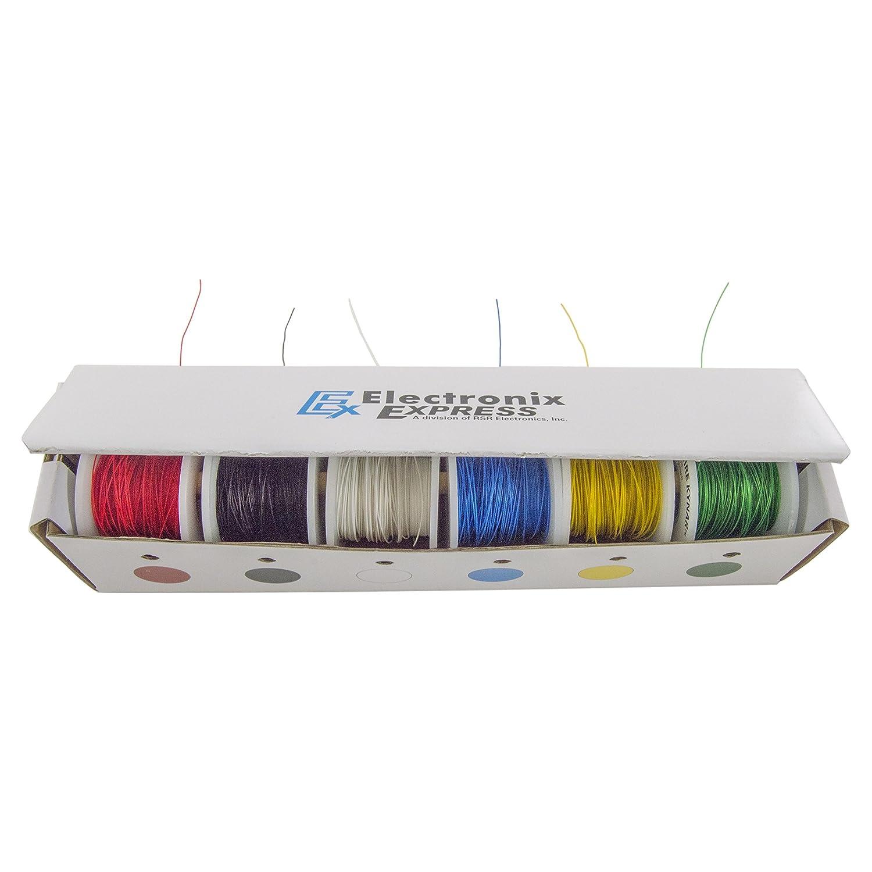 Electronix Express 27WK30WWR100 Solid 30 Gauge Wire Wrap, Kynar ...