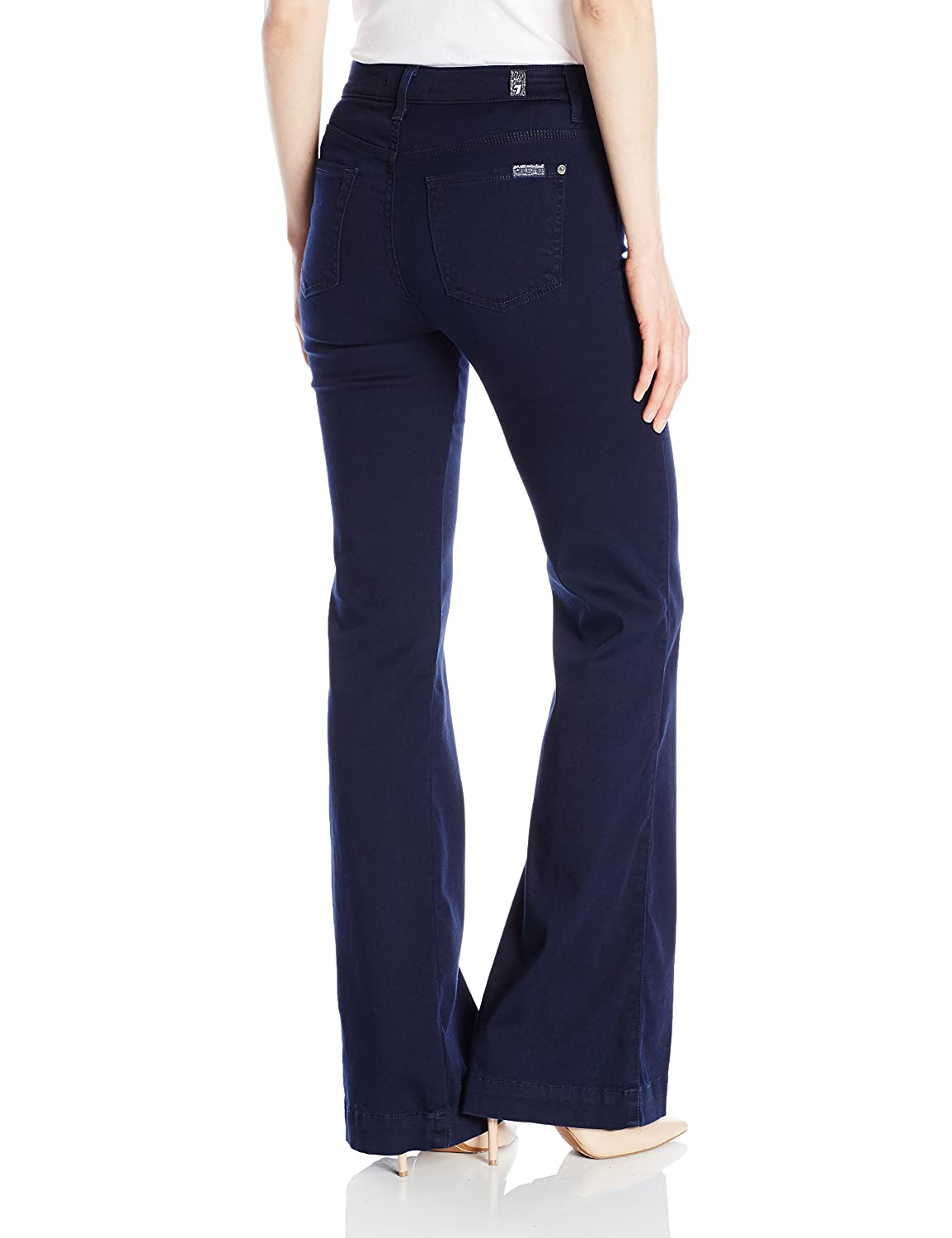 7 For All Mankind Women's Ginger Fashion Trouser Jean In Featherweight Rich Blue