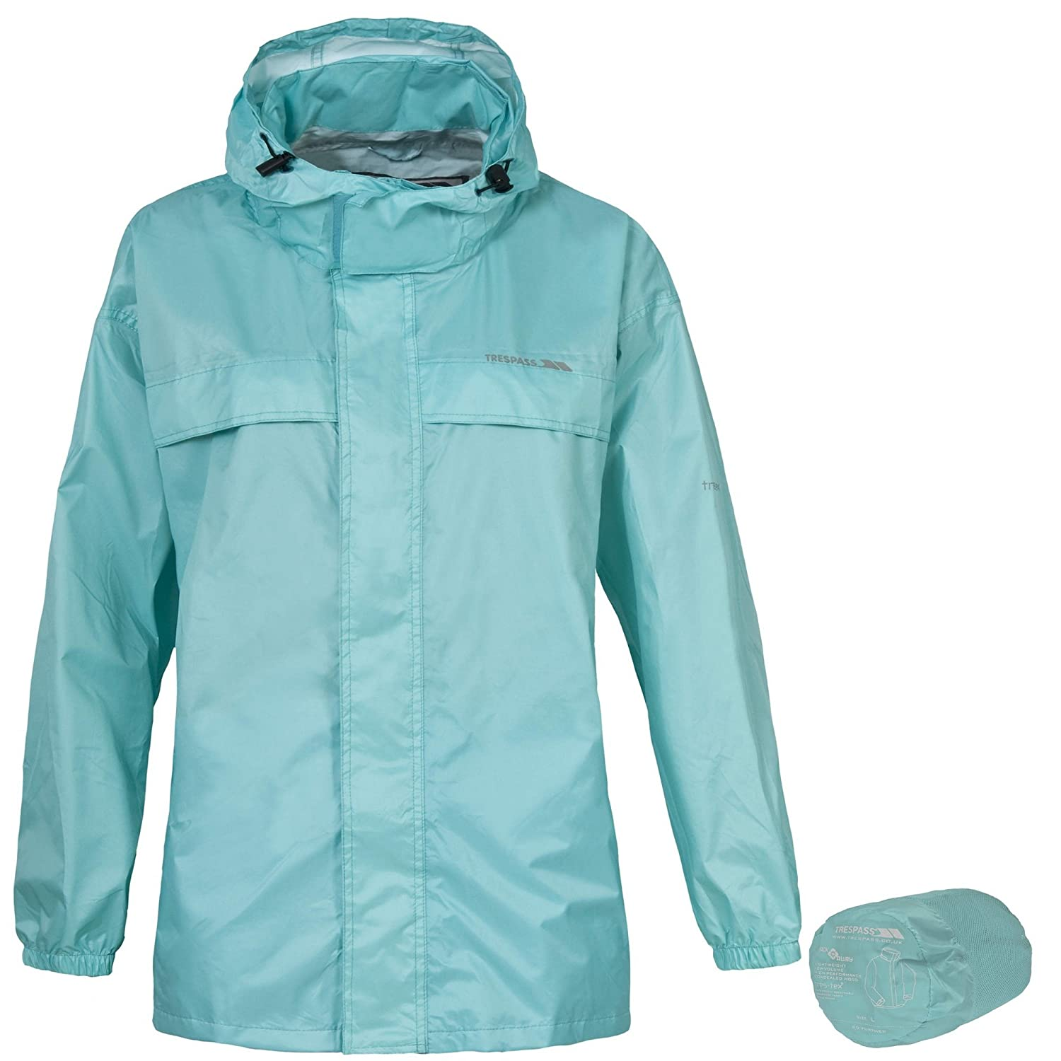 Trespass womens purple packaway jacket