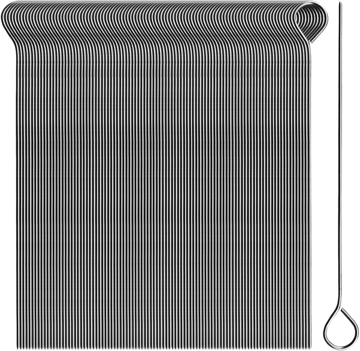 100 pezzi - ago Spiedini premium in un set Spiedini lunghi 11 cm com-four/® 100x Aghi per involtini in acciaio inossidabile