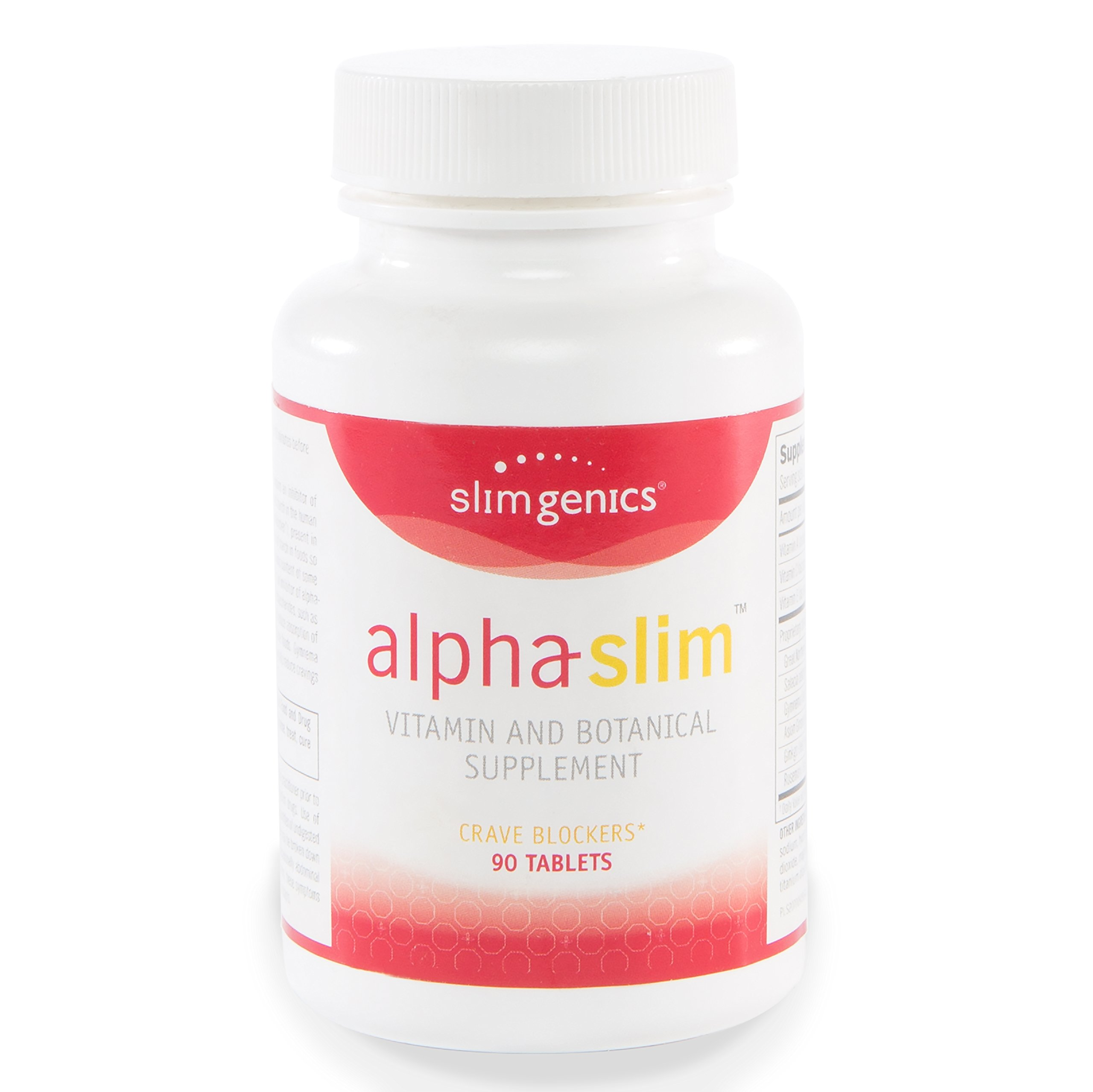 SlimGenics Alpha-Slim TM   Carb Blocker, Block Up to 300 Calories Per Meal - Reduce Cravings, Increase Fat Burning, Includes White Kidney Bean Extract - Promotes Healthy Weight Loss (90 Count) by SlimGenics