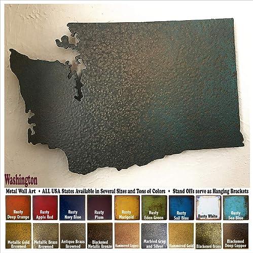 Amazon Washington Metal Wall Art Choose 10 16 Or 22 Wide